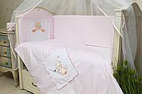 Защита (бампер) в кроватку для новорожденных Котик