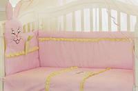 Защита (бампер) на детскую кроватку для новорожденных Морковка