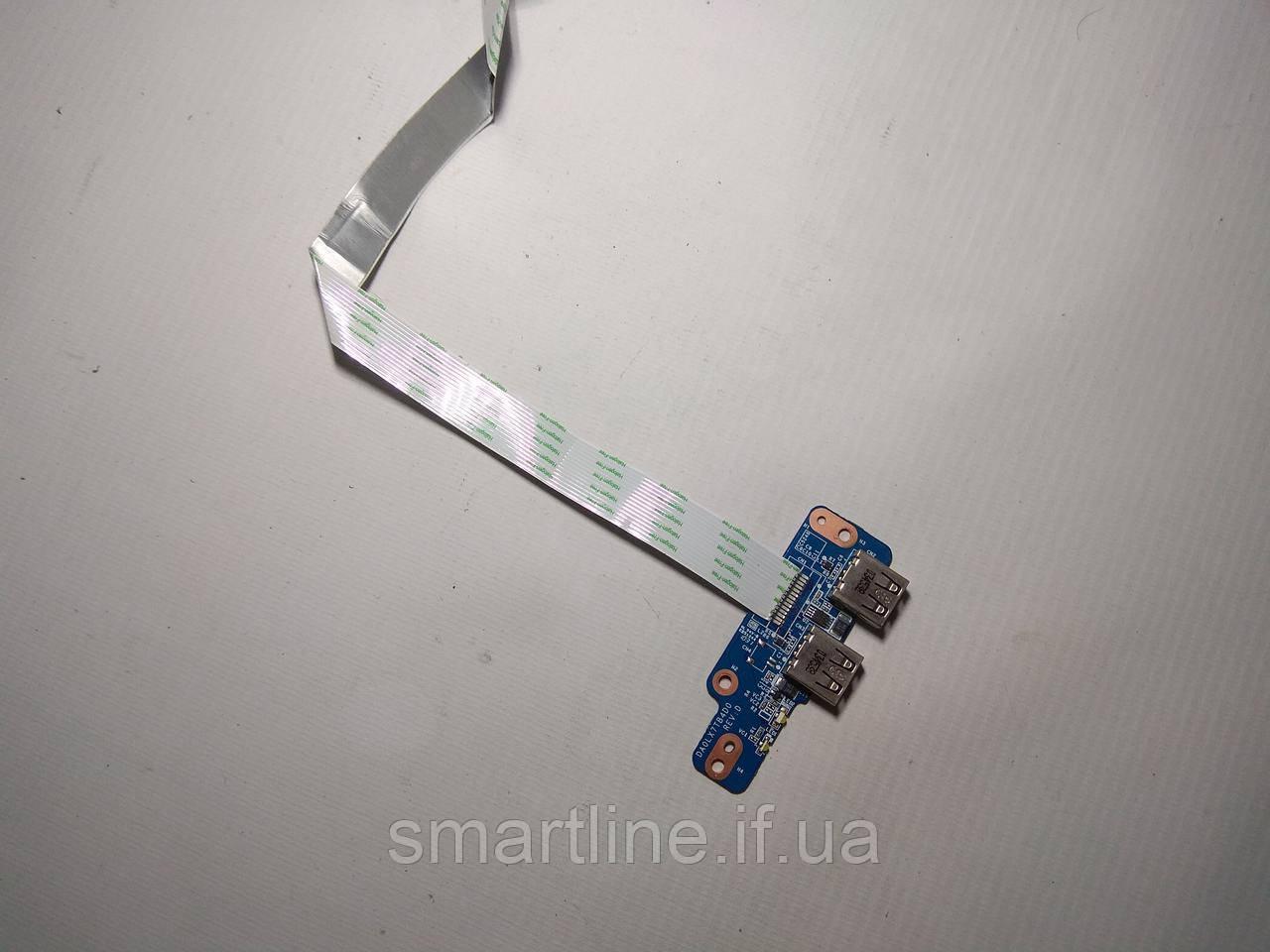 USB роз'єм для ноутбука HP pavilion dv7 4000 series, DA0LX7TB4D0
