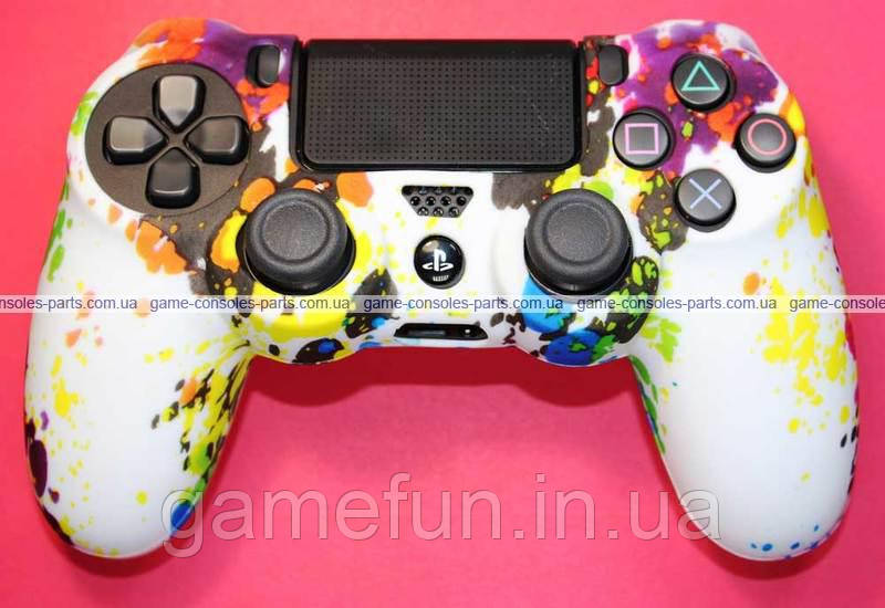 PS4 силіконовий чохол для джойстик Dualshock 4 (Преміум) (Тип-1)
