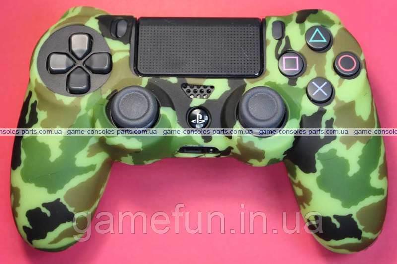 PS4 силиконовый чехол для джойстика Dualshock 4 (Премиум) (Тип-2)