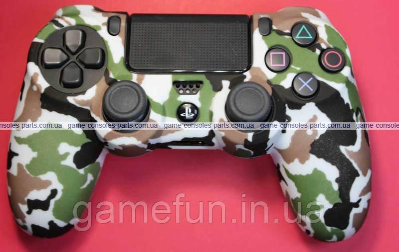 PS4 силиконовый чехол для джойстика Dualshock 4 (Премиум) (Тип-3)