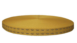 Лента для поводков 20 мм жёлтая