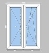 Штульповое окно Rehau,однокамерный пакет,пластиковое окно  Рехау