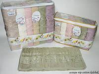Набор полотенец Cestepe Vip Cotton Kelebek махра 50*90см 6шт