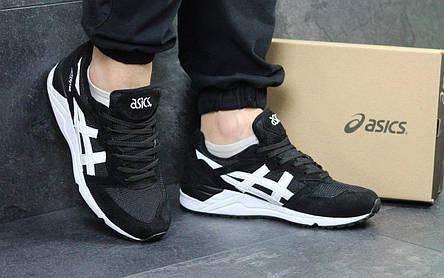 Мужские кроссовки Asics Gel-Lique замшевые,черно-белые  продажа ... 2424cafc3ef