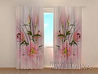 """Фото штора """"Прекрасные лилии"""" 250 х 260 см"""
