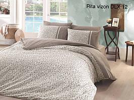 "Постельное белье First Choice(евро-размер) ранфорс deluxe""Rita Vizon DLX-12"""