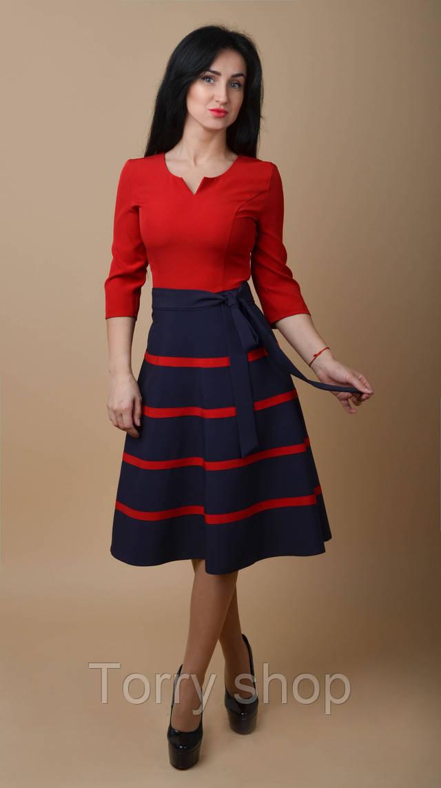 d663977bb677cc9 Красивое платье средней длины с расклешенной юбкой, бирюзового цвета, ...