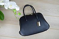Кожаная черная сумка  98-1725