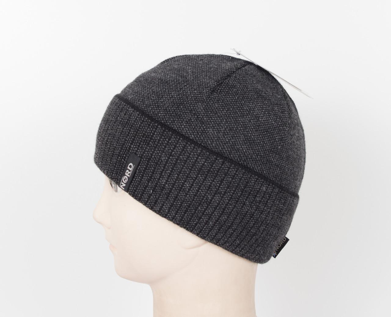 Вязаная шапка Nord на флисе