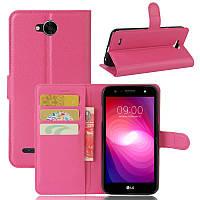 Чехол LG X Power 2 / M320 книжка PU-Кожа розовый