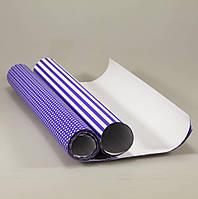 Комплект подарочной бумаги, 2 вида, 70*55см (12 листов в рулоне)