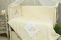 Защитный бампер на детскую кроватку Котик