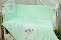 Защита в кроватку для новорожденных Улитка