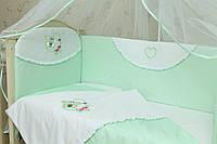 Бортики на детскую кроватку Мотылек