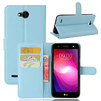 Чехол LG X Power 2 / M320 книжка PU-Кожа голубой