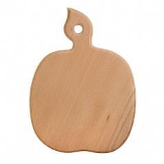 Доска разделочная деревянная Яблоко| кухонная | заготовка для декупажа |под покраску| для росписи | 27х19 см