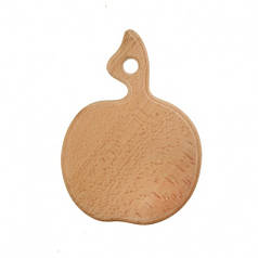 Доска разделочная деревянная Яблоко| кухонная | заготовка для декупажа |под покраску| для росписи | 19х14 см