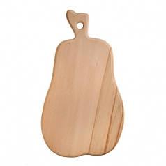 Доска разделочная деревянная Груша| кухонная | заготовка для декупажа |под покраску| для росписи | 35 см