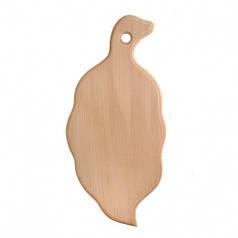 Доска разделочная деревянная Листик| кухонная | заготовка для декупажа |под покраску| для росписи | 32х15 см