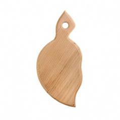 Доска разделочная деревянная Листик|заготовка для декупажа |под покраску| для росписи |кухонная| 24х11 см