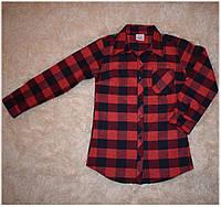Рубашка на девочку в клетку с камнями swarovski размер 128,134,152