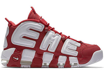 Мужские | Женские Кроссовки Supreme x Nike Air More Uptempo  Red and white