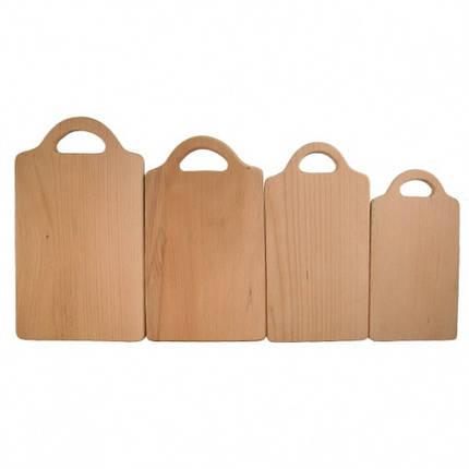 Доска разделочная деревянная прямоугольная  | заготовка для декупажа |под покраску| для росписи | 38х22 см, фото 2