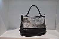 Кожаная сумка женская черная 001148