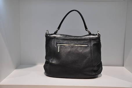 Кожаная сумка женская черная 001148, фото 2