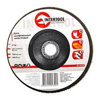Диск шлифовальный лепестковый 180*22мм, зерно K100 Intertool BT-0230