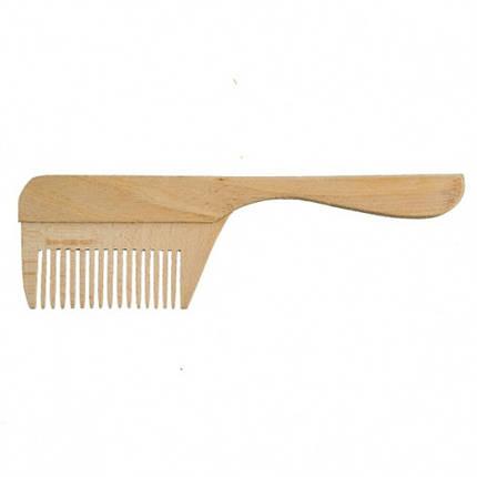 Дерев'яний гребінь для волосся   заготівля для декору   під фарбування   гребінець для декупажу 20 см, фото 2