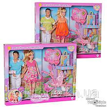 """Лялька DEFA з чоловіком і дитиною, набір ляльок """"Сім'я"""" 8088"""