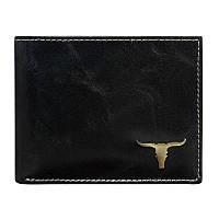 Мужское кожаное портмоне RM-02-BAW Black