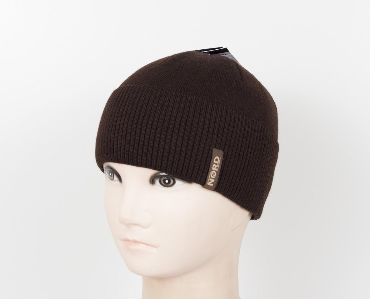 Вязаная шапка Nord на флисе, фото 1