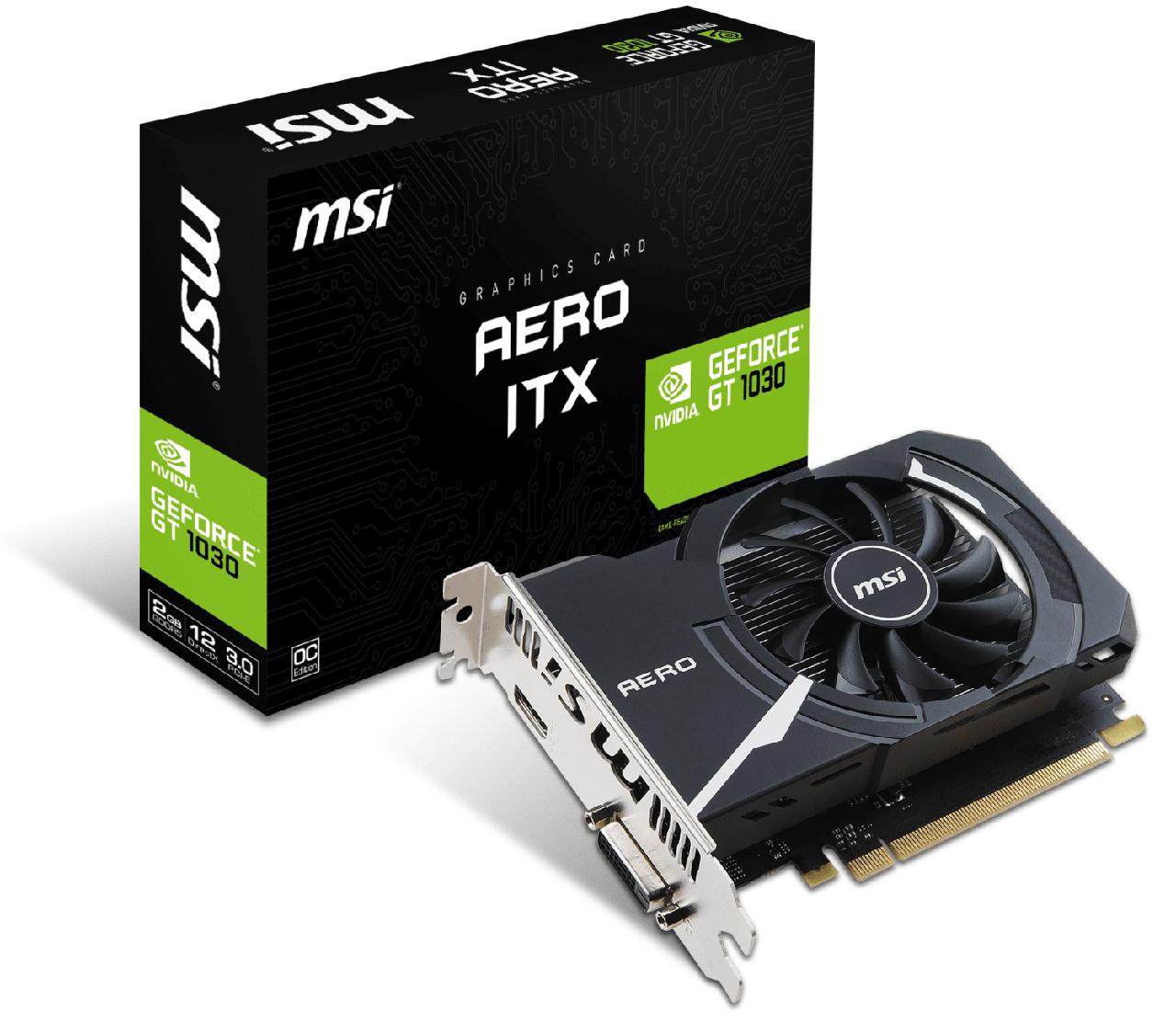 "Видеокарта MSI GT 1030 Aero ITX OC 2GB GDDR5 (64bit) ""Over-Stock"""