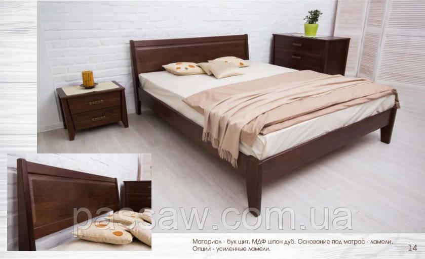 """Кровать деревянная """"Сити без изножья с филенкой"""" 1,8"""
