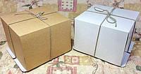 Коробка картонная для торта 26 см х 26 см х 20 см, микрогофрокартон