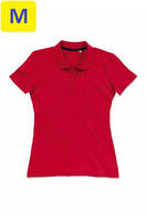 Polo женское ST9150 HANNA POLO с коротким рукавом 180 g/m², красный