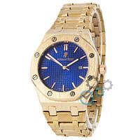 Часы Audemars Piguet Royal Oak Quartz Gold-Blue