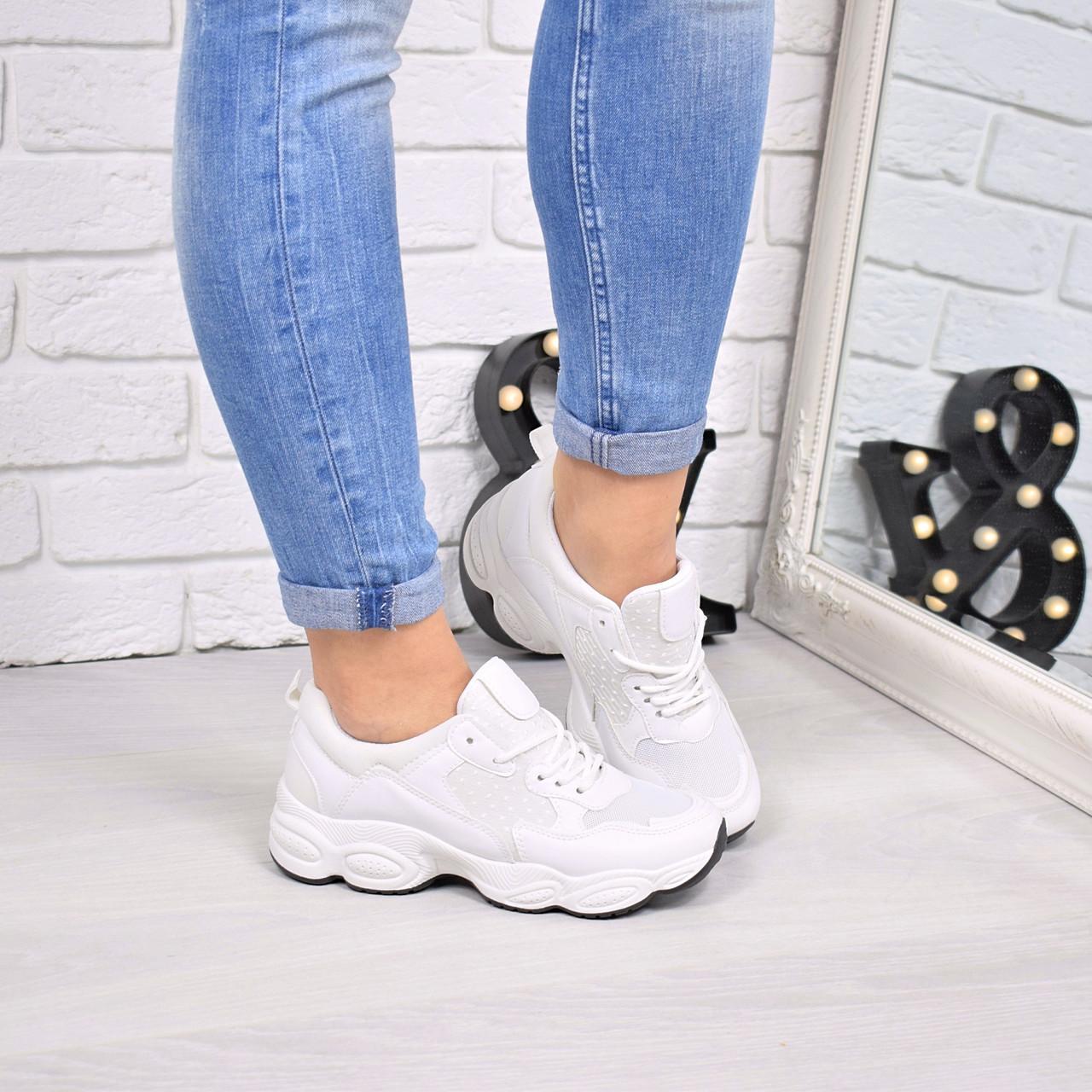кроссовки женские под Balenciaga белые 4224 спортивная обувь