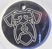 Медальон адресник жетон для собак и кошек