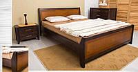 """Кровать деревянная """"Сити с интарсией"""" 1,8"""