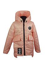 Куртка для девочки  671 весна-осень, размеры на рост от 116 до 134 возраст от 5 до 8 лет