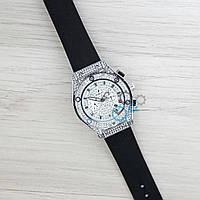 Женские часы Hublot (серебристый циферблат)