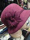 Фетровая зимняя шляпа, фото 5