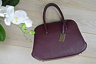 Кожаная бордовая сумка 1725