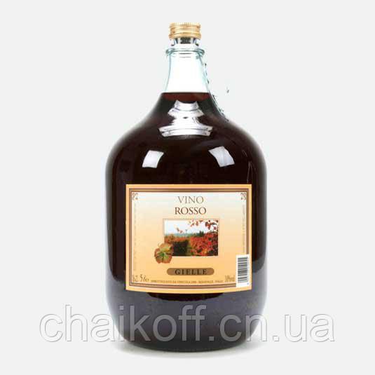 Вино красное сухое GIELLE Vino Rosso 5 л (Италия)