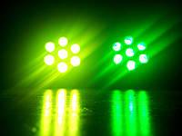 Led par 7x10 RGBW dmx. Прожектор светодиодный. Светомузыка, стробоскоп, диско свет.
